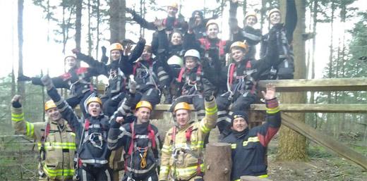 Klimbos ontvangt vrijwillige brandweer