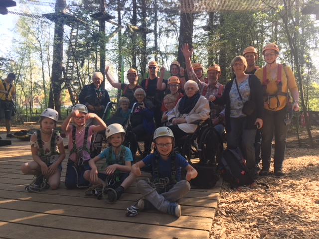 4 generaties klimmers in ons klimbos!