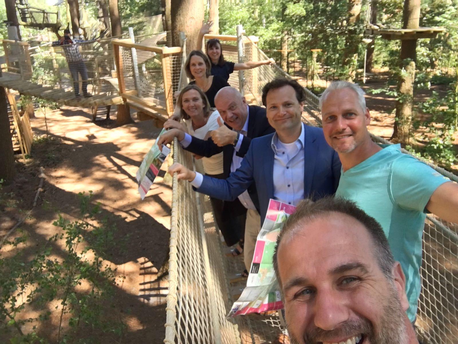 Kennismaken met nieuwe wethouder van Barneveld in Klimbos
