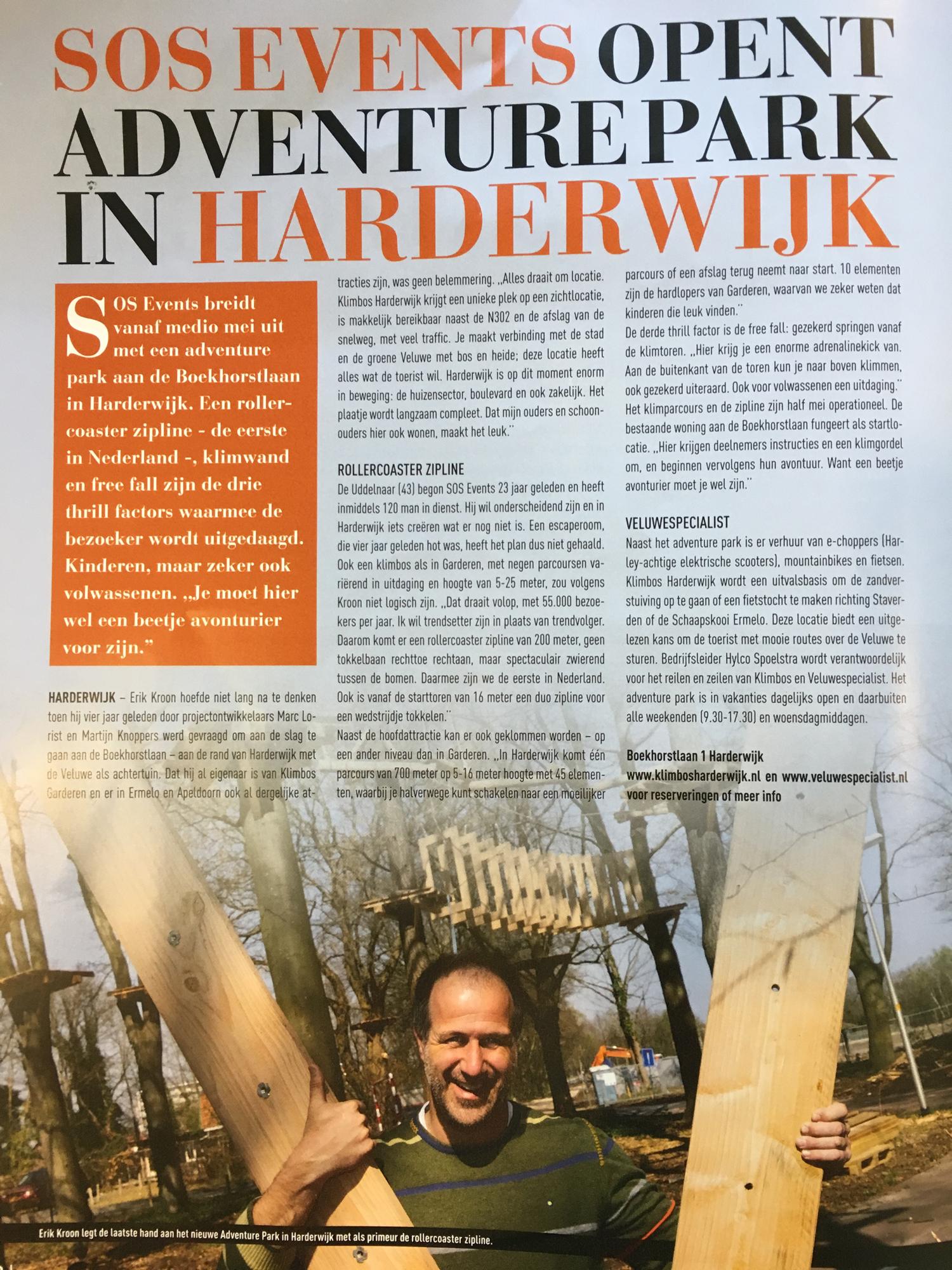Adventurepark Harderwijk in Stad in Bedrijf